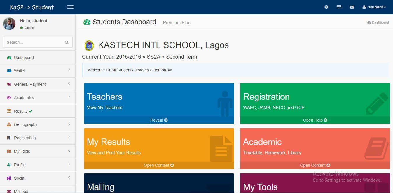 KAS School Portal